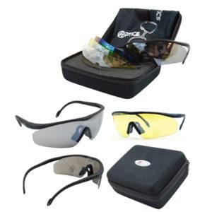 Double Alpha Shooting Glasses – Model Lima Tactical Matte Black