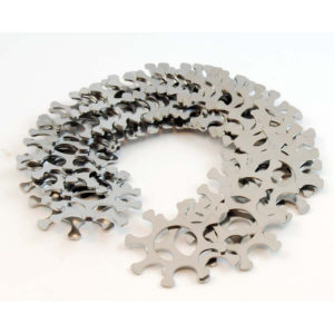 Double Alpha 10-Pack Stainless 929 Moon Clips 0.037 inch