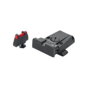 LPA Glock Adjustable Sights Set – 1.5mm Fibre Optic