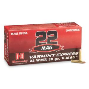 Hornady 22 WMR 30 gr V-MAX Varmint Express – 200 Rounds