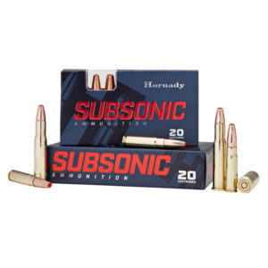 Hornady 450 Bushmaster 395 gr Sub-X Subsonic – 20 Rounds