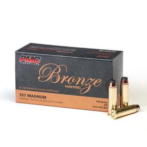 PMC Bronze 357 Magnum 158gr JSP – 50 Rounds