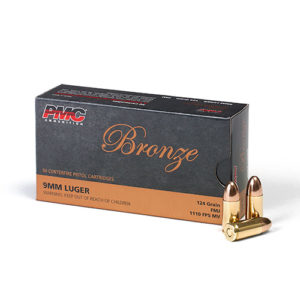 PMC Bronze 9mm 124gr FMJ – 500 Rounds