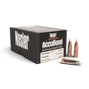 Nosler 270cal 130gr Accubond – 50 Projectiles
