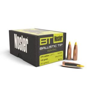 Nosler 270cal 130gr Ballistic Tip – 50 Projectiles