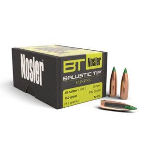 Nosler 30cal 150gr Ballistic Tip – 50 Projectiles