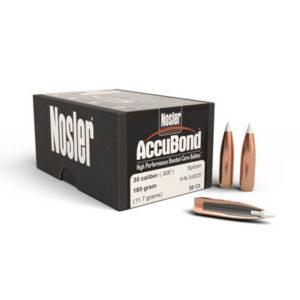 Nosler 30cal 180gr Accubond – 50 Projectiles