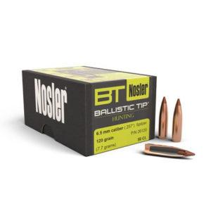 Nosler 6.5mm 120gr Ballistic Tip – 50 Projectiles