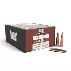 Nosler 6.5mm 129gr Accubond Long Range – 100 Projectiles