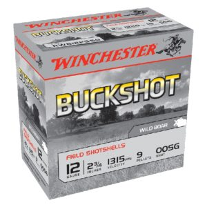 "Winchester 12Ga #00 Buckshot 2¾"" 9 Pellet"