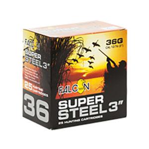 FALCON 12GA SUPER STEEL 3″ #3 36GRAM – 250 ROUNDS