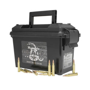 Hornady 223 Rem 62gr FMJ Black Can of 247 rounds