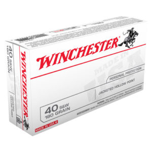 Winchester USA Value Pack .40S&W 180gr JHP Box of 50