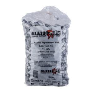 Claybuster 12ga 7/8 oz Grey Wads
