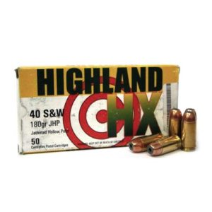 Highland HX 40S&W 180gr Jacketed Hollow Point